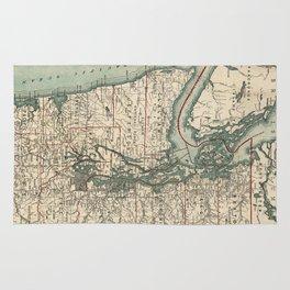 Vintage Map of The Puget Sound (1910) Rug