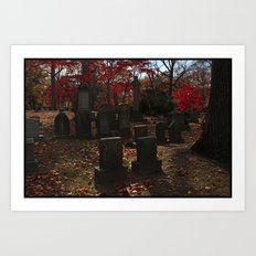 Cemetery Red Art Print