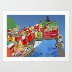 Towns of Italy Art Print