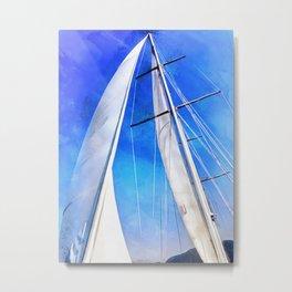 Sailing Unties The Knots Of My Mind Metal Print