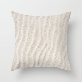 Sand Ripples   Beach   Abstract   Landscape Photography   Seascape Throw Pillow