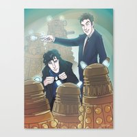 enerjax Canvas Prints featuring Sherlock and Ten by enerjax