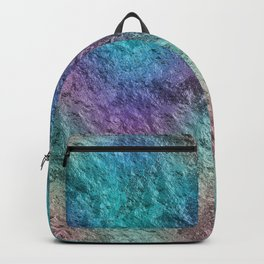 Textured Ombre Aqua and Purple Opalescent Foil Backpack