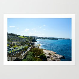 Peace by the sea Art Print