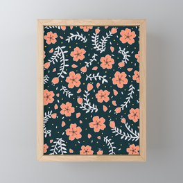sakura blossoms Framed Mini Art Print