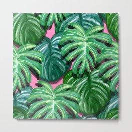 Tropical Palm Leaves Metal Print