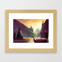 Voyage At Dawn Framed Art Print