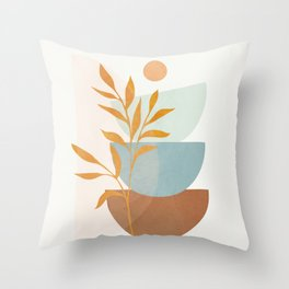 Soft Abstract Shapes 02 Throw Pillow