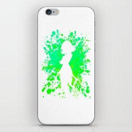Anime Hero Paint Splatter Inspired Shirt iPhone Skin