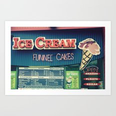 Ice Cream Stand Art Print
