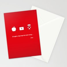 An apple a day keep the doctor away Stationery Cards