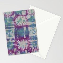 Tile Tie Dye Blue Green Purple Stationery Cards