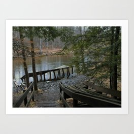 landscape, scenery, river, water, nature,  Art Print