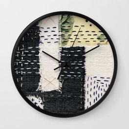 Boro Kantha Textile Art 002 Wall Clock