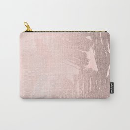 Rose Gold Pastel Pink Paint Brush Carry-All Pouch
