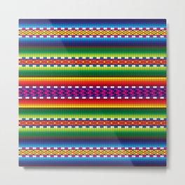 Colorful Woven South American Pattern Metal Print