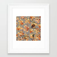 quilt Framed Art Prints featuring Dogwood Quilt by Olivia Joy StClaire