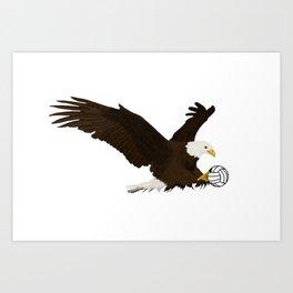 Volleyball Eagle Art Print