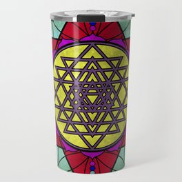 Sacred Geometry for your daily life- SRI YANTRA Travel Mug