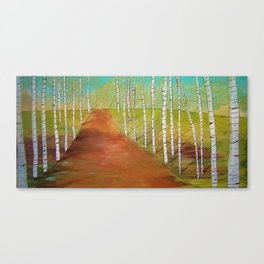 Quirky Birch Canvas Print