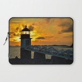 Pumpkin Chiffon Sunset Laptop Sleeve
