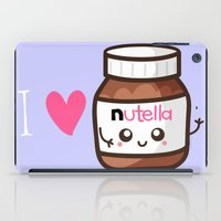 nutella iPad Cases featuring Love Nutella by Kleviee