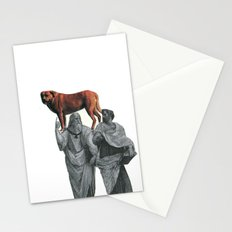 plato n aristotle walking their doge Stationery Cards