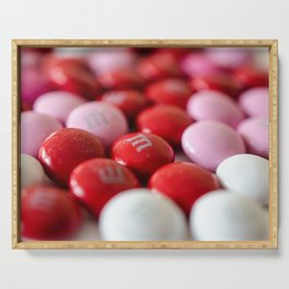 Valentine's Day Red & Pink Candy Serving Tray
