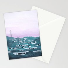 Looking Back from Ocean Beach, SF Stationery Cards