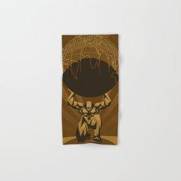 atlas holding the globe shrugged Hand & Bath Towel