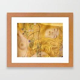 Gustav Klimt - Water Serpents, 1 (detail) Framed Art Print