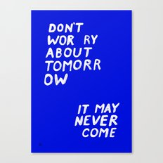 NOWORRIES Canvas Print