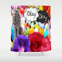 okay Shower Curtains featuring okay... by Aldo Couture