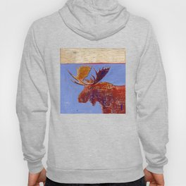 moose with birch bark Hoody
