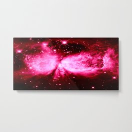 A Star is Born : Hot Pink Galaxy Metal Print