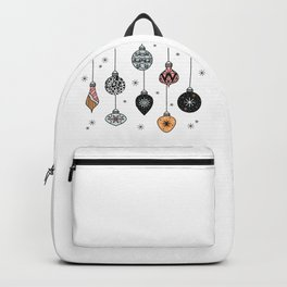 Christmas Tree Ornaments Backpack