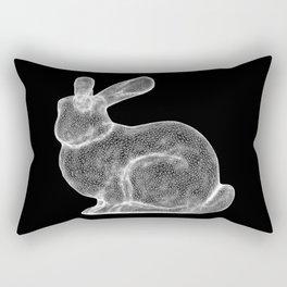 DELAUNAY BUNNY B/W Rectangular Pillow