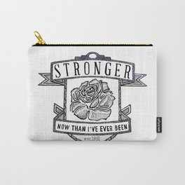 Stronger Quote Carry-All Pouch