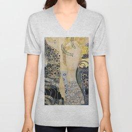 Gustav Klimt - The Hydra - Digital Remastered Edition Unisex V-Neck