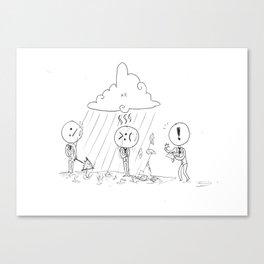 Emoticons IRL Canvas Print
