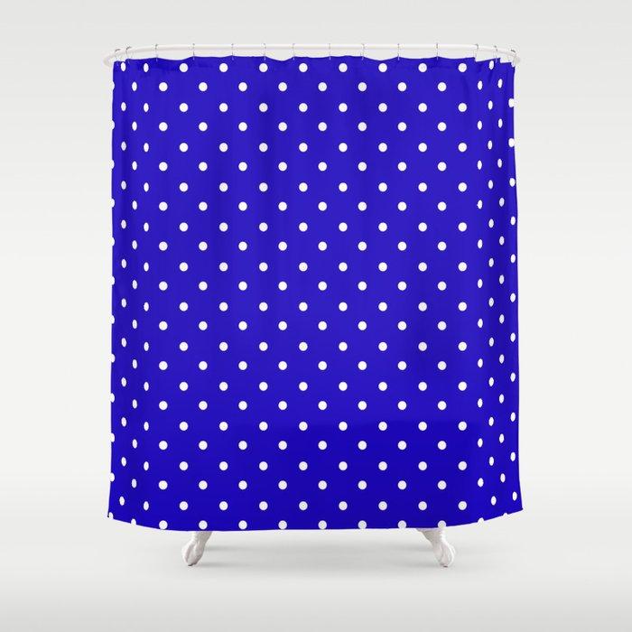 Little Dots Royal Blue Shower Curtain