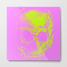 Retro Skull Metal Print