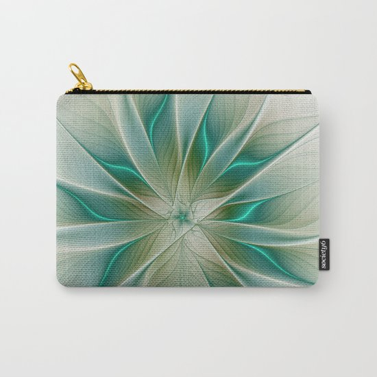 Floral Lights, Abstract Fractal Art Carry-All Pouch