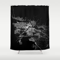 vancouver Shower Curtains featuring vancouver map canada by Line Line Lines