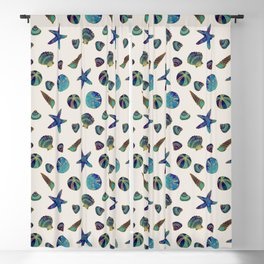 Beach Treasures - Aqua Blackout Curtain