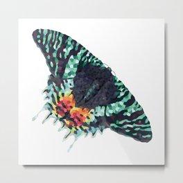 Moth Geometric Illustration Metal Print