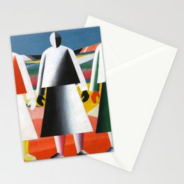 Kazimir Malevich - Girls in the Fields Stationery Cards