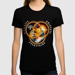 The Answer To Life Universe And Everything Solar System Tee Moon Astronomy Planet Scientist Space T-shirt