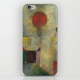 Red Balloon by Paul Klee iPhone Skin