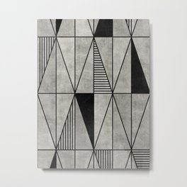 Concrete Triangles Metal Print